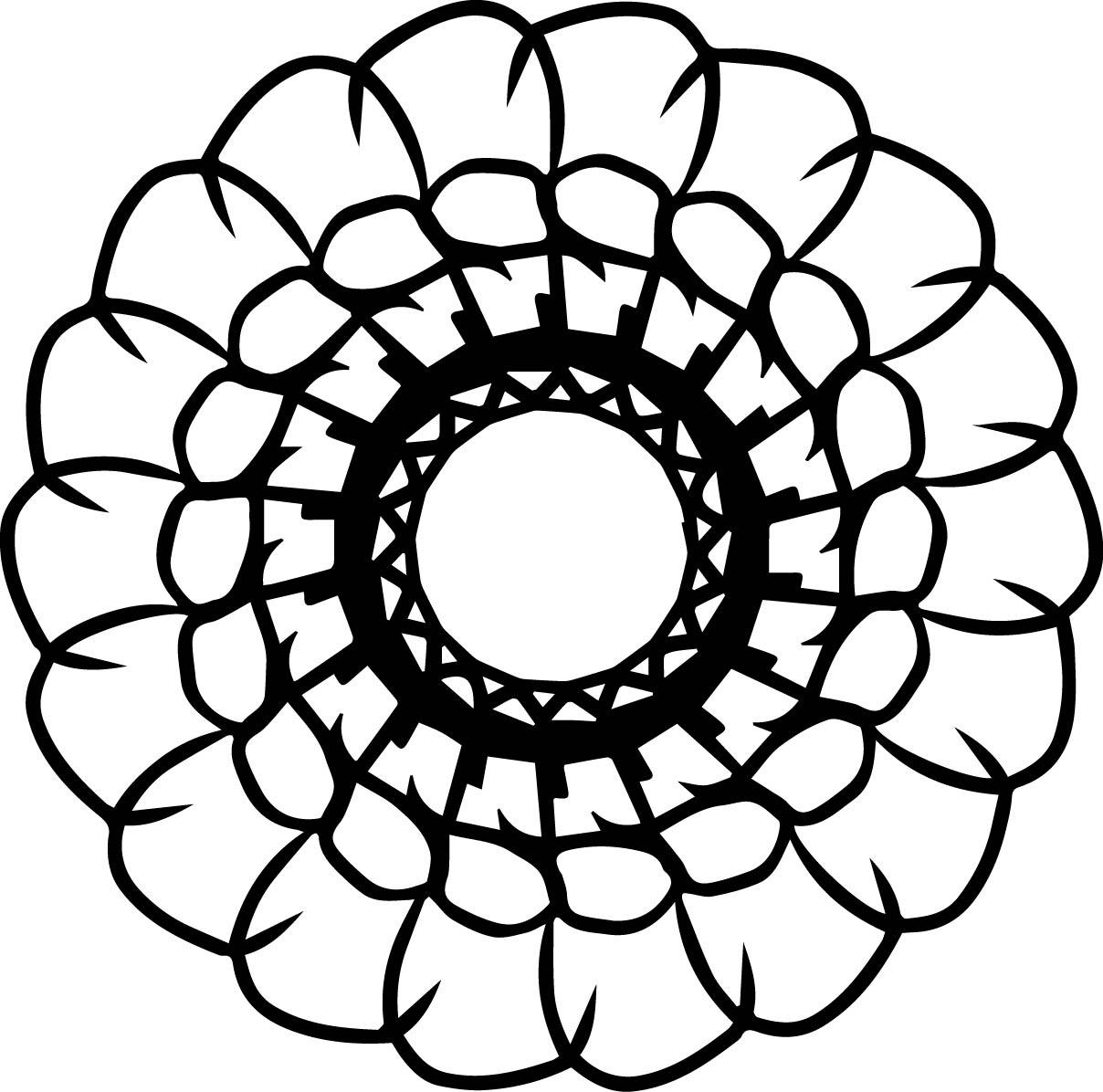 Adult Mandala Shape Orniment Style Coloring Page 57