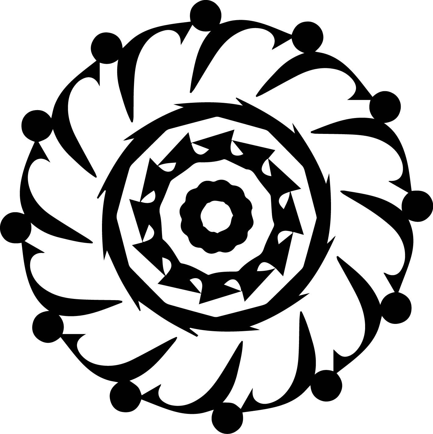 Adult Mandala Shape Orniment Style Coloring Page 58