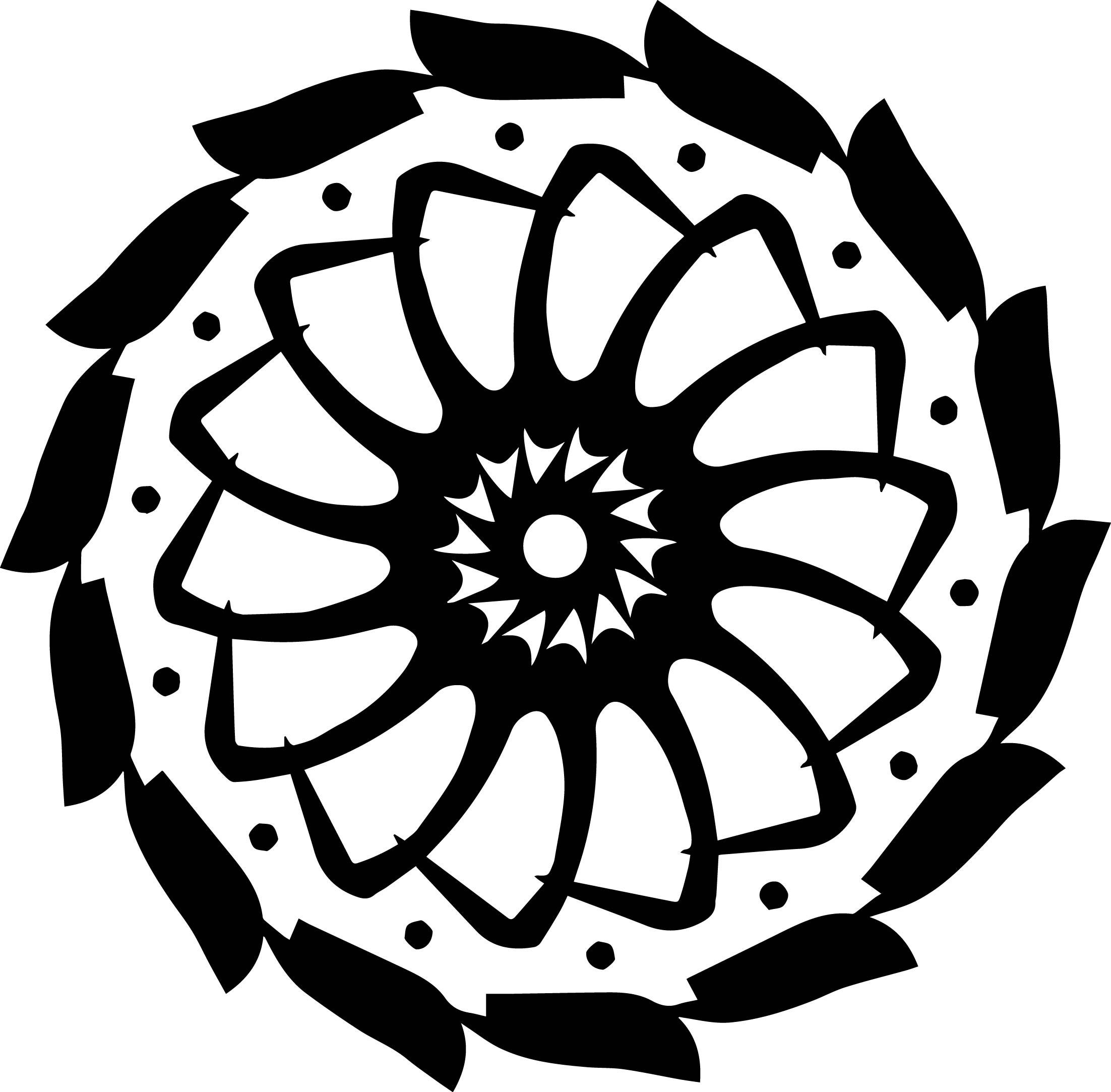 Adult Mandala Shape Orniment Style Coloring Page 59