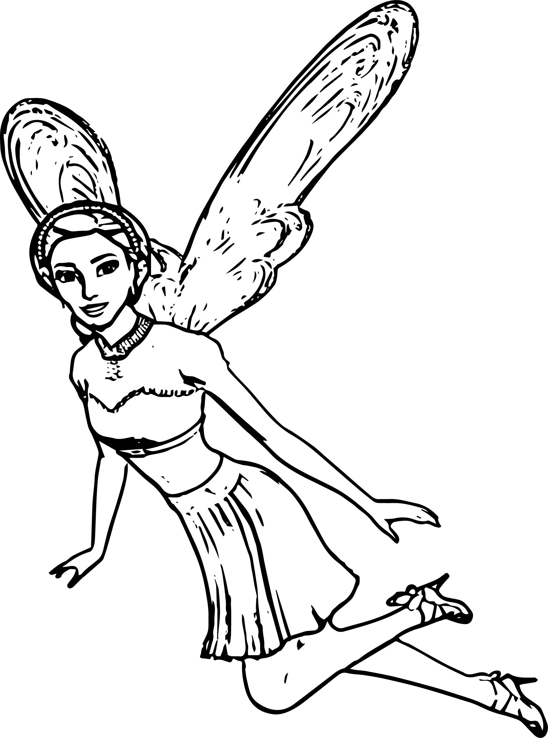 fly angel coloring pages - photo#1