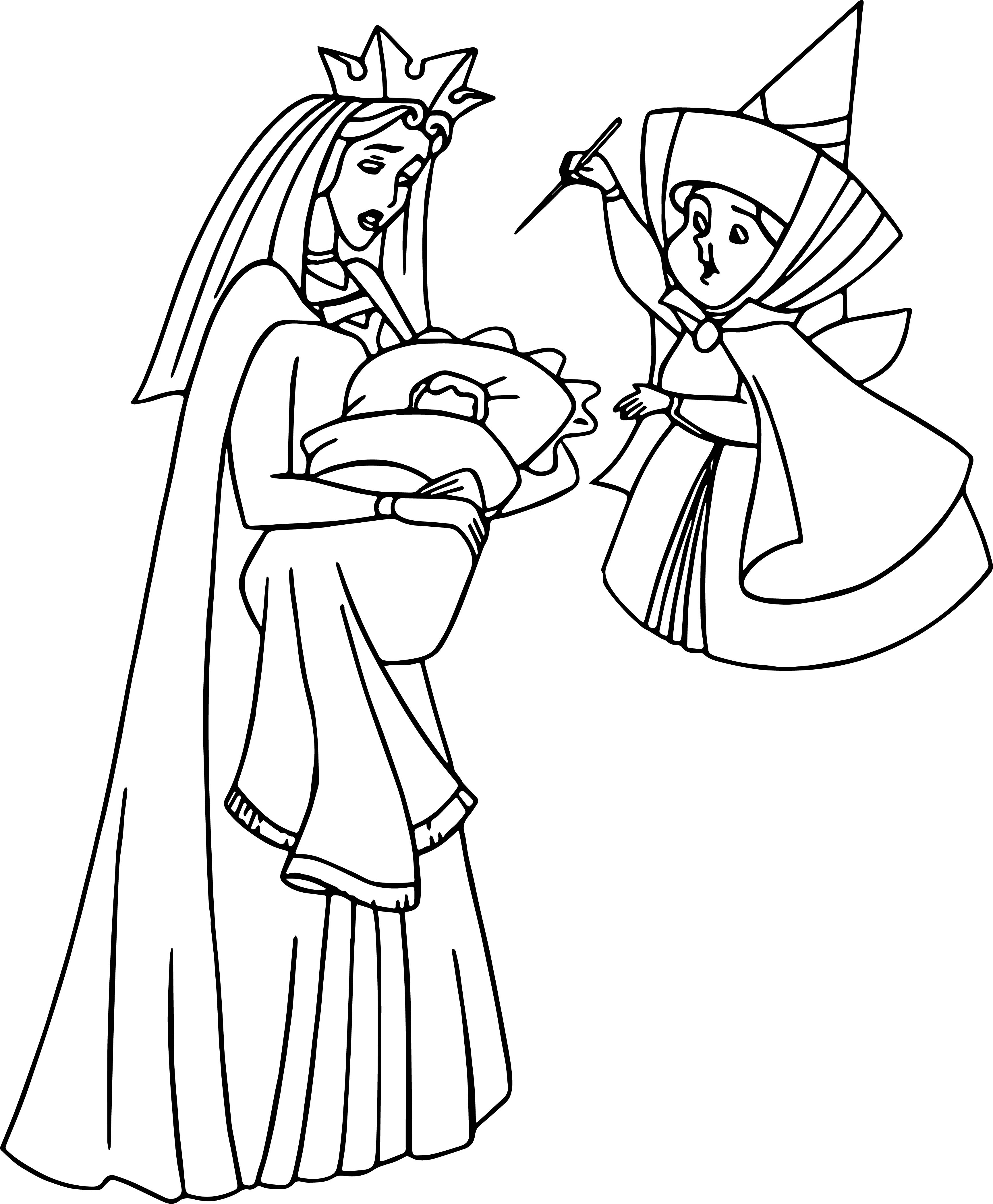 Aurora Angel Coloring Page