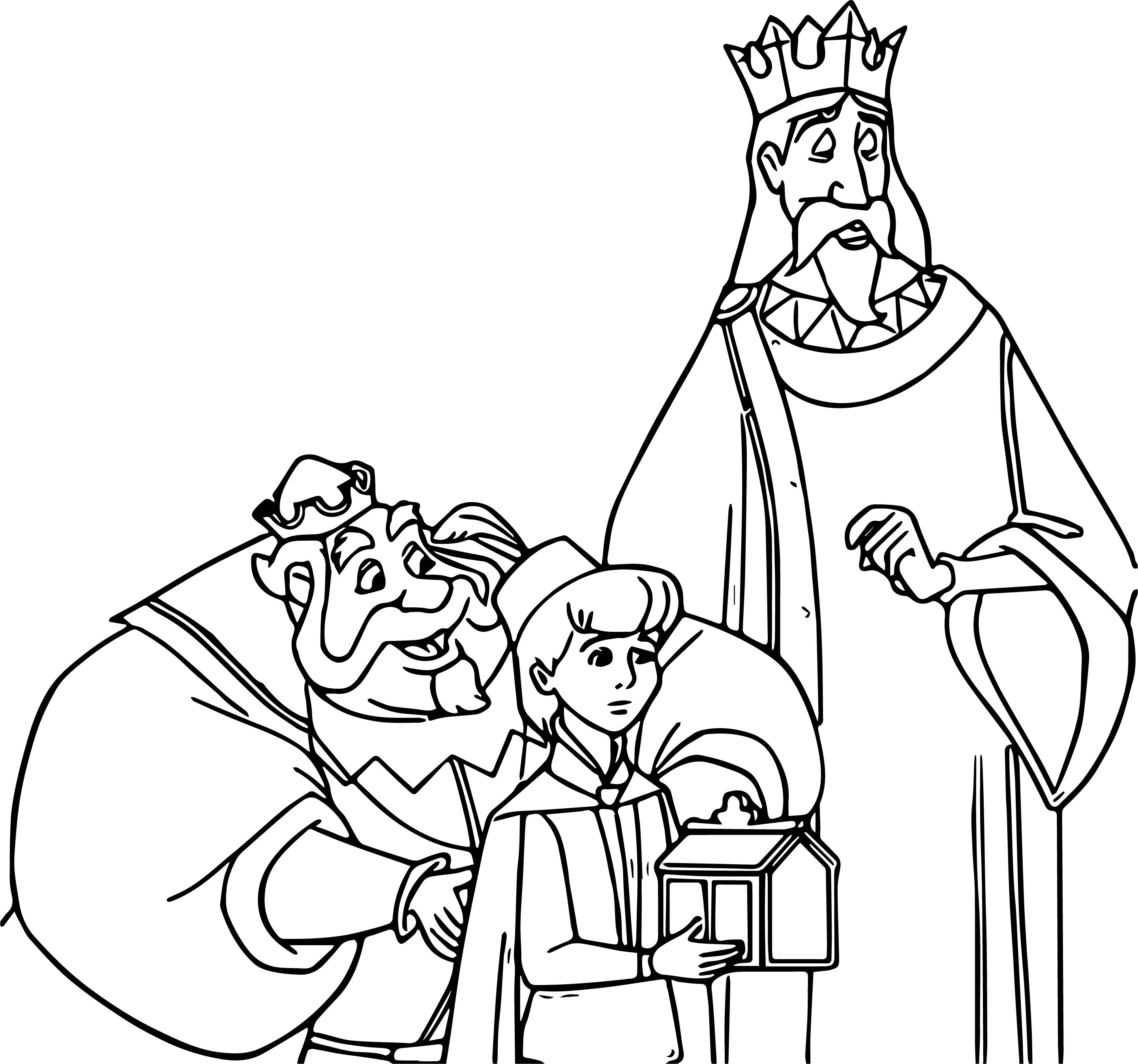 Aurora Queen Child Coloring Page