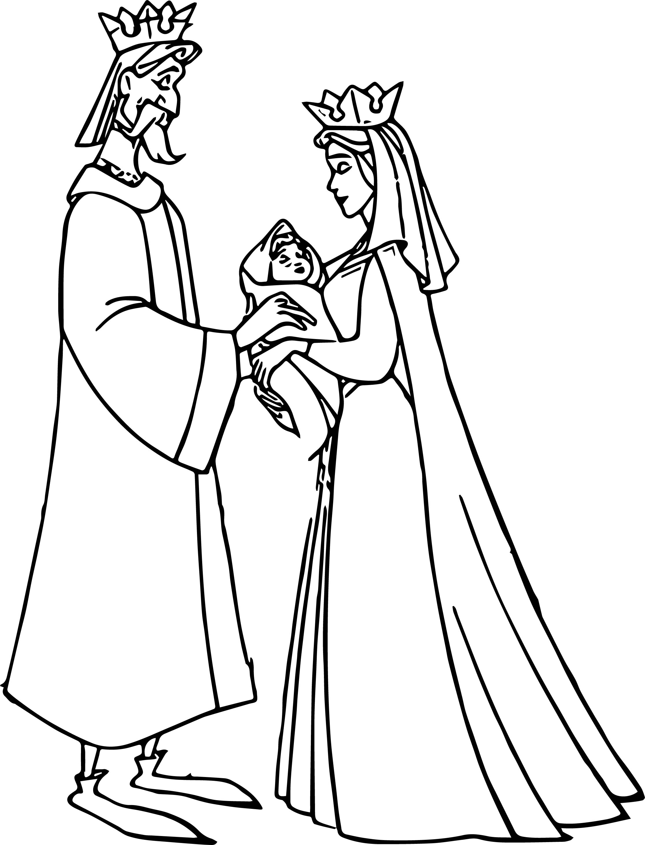 Aurora Queen Give Baby Coloring Page