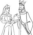 Aurora Queen Talking Coloring Page