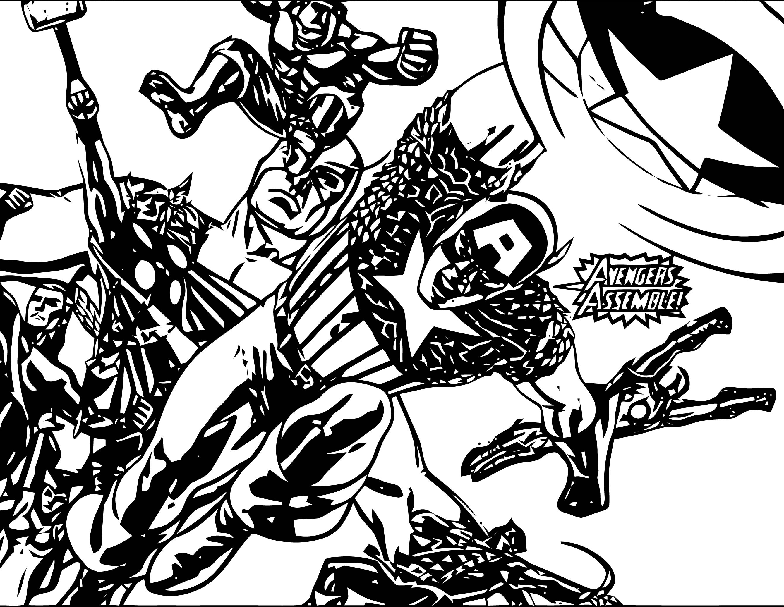 Avengers Coloring Page 074