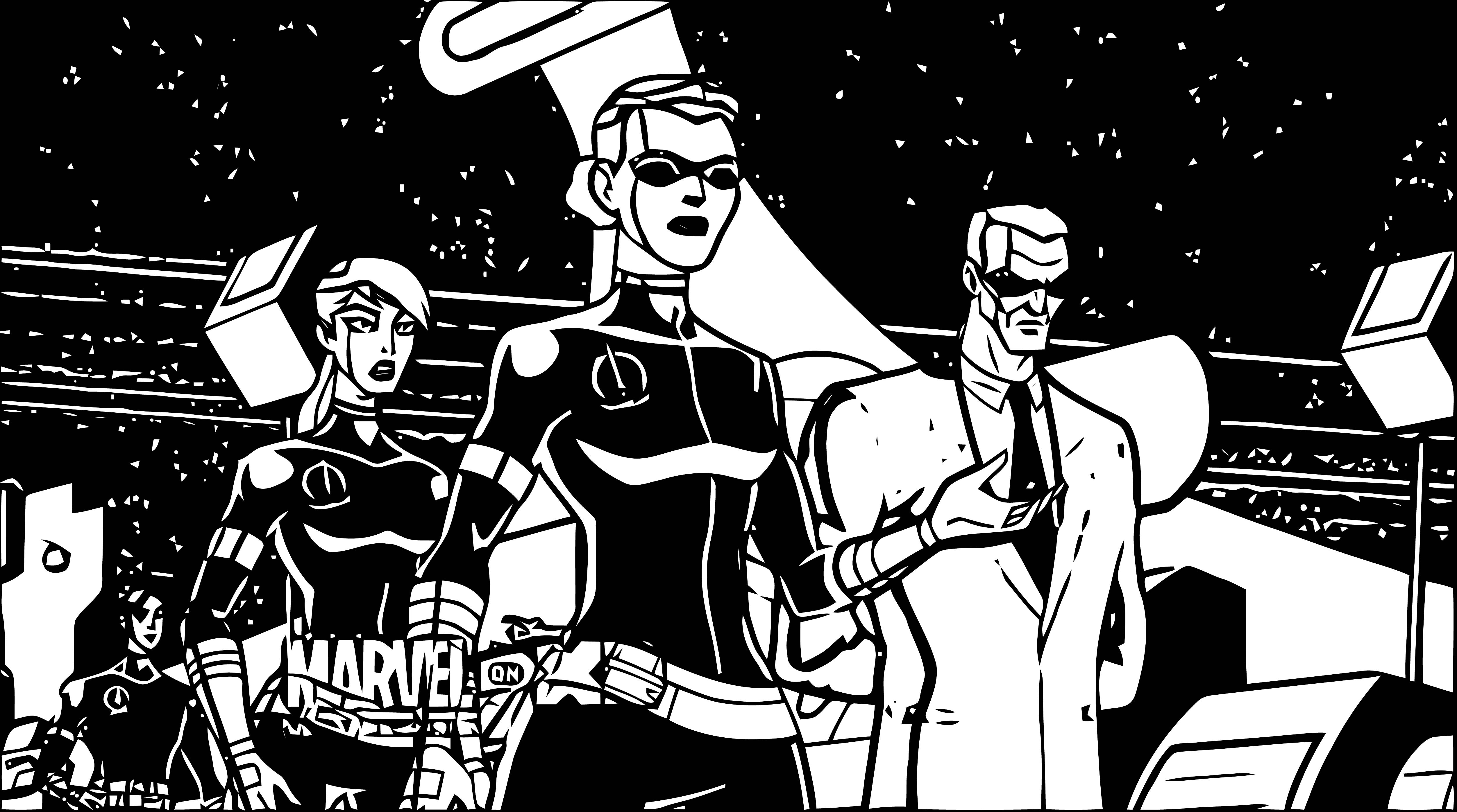 Avengers Coloring Page 079