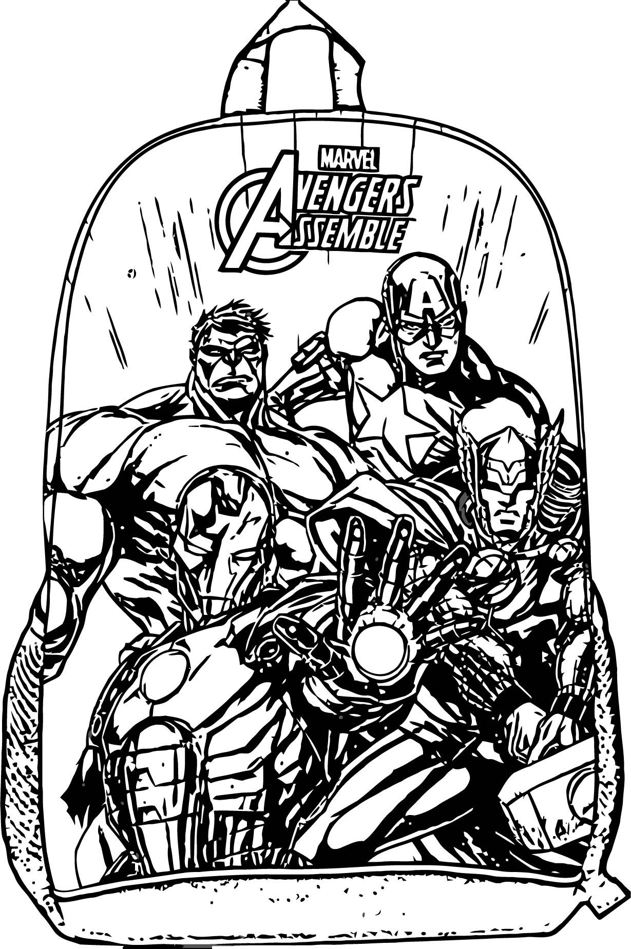 Avengers Coloring Page 166