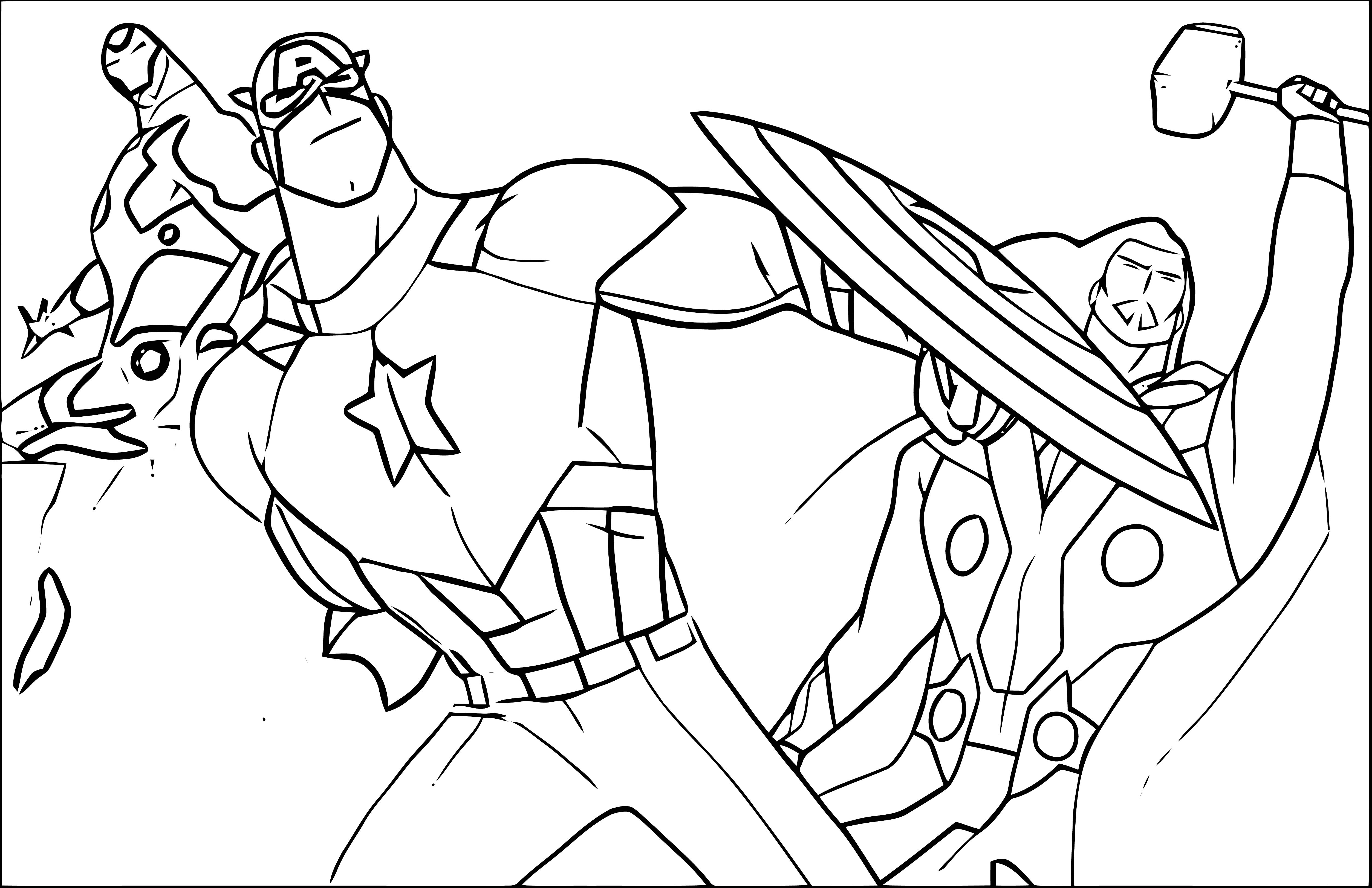 Avengers Coloring Page 225