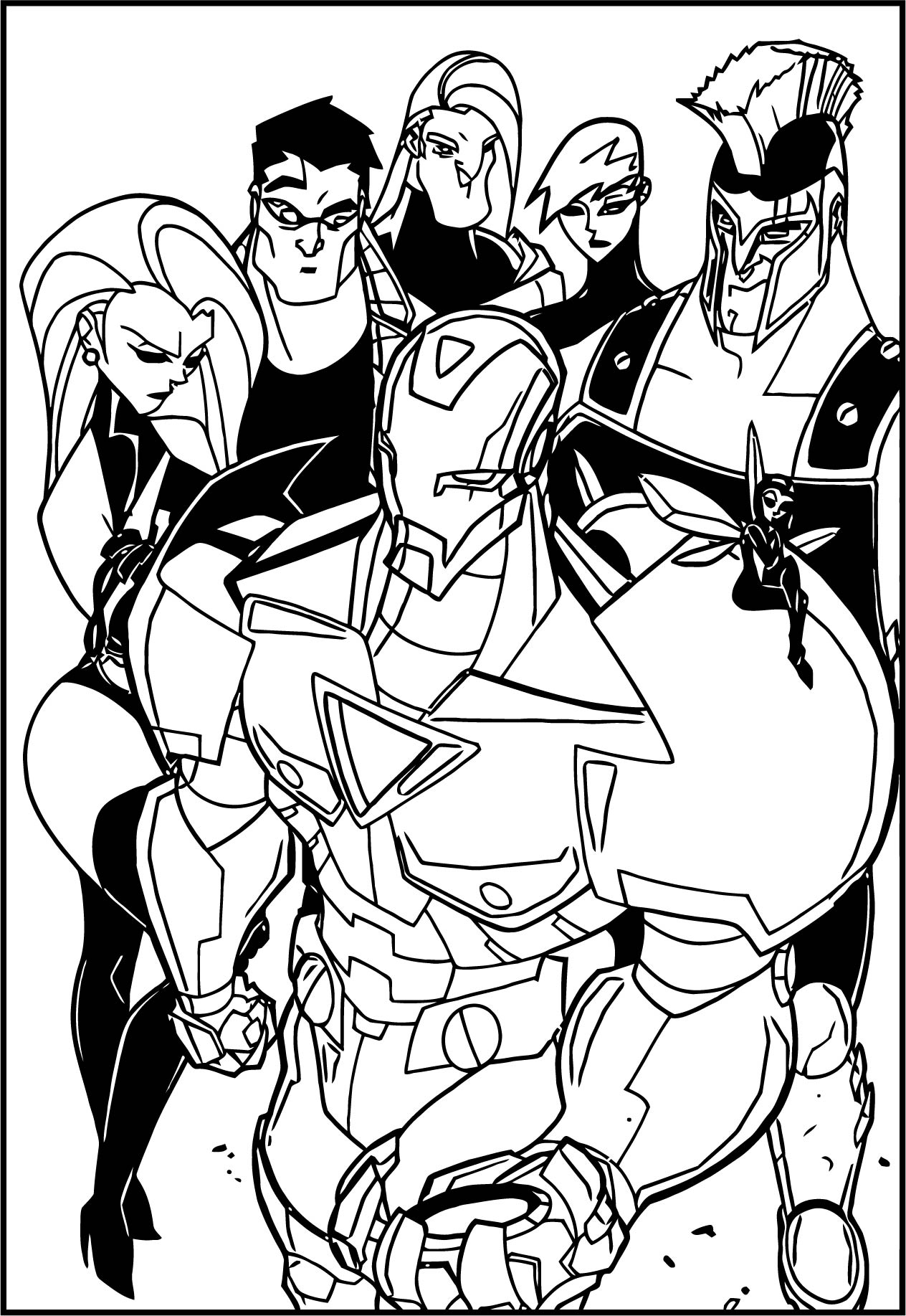 Avengers Coloring Page 244