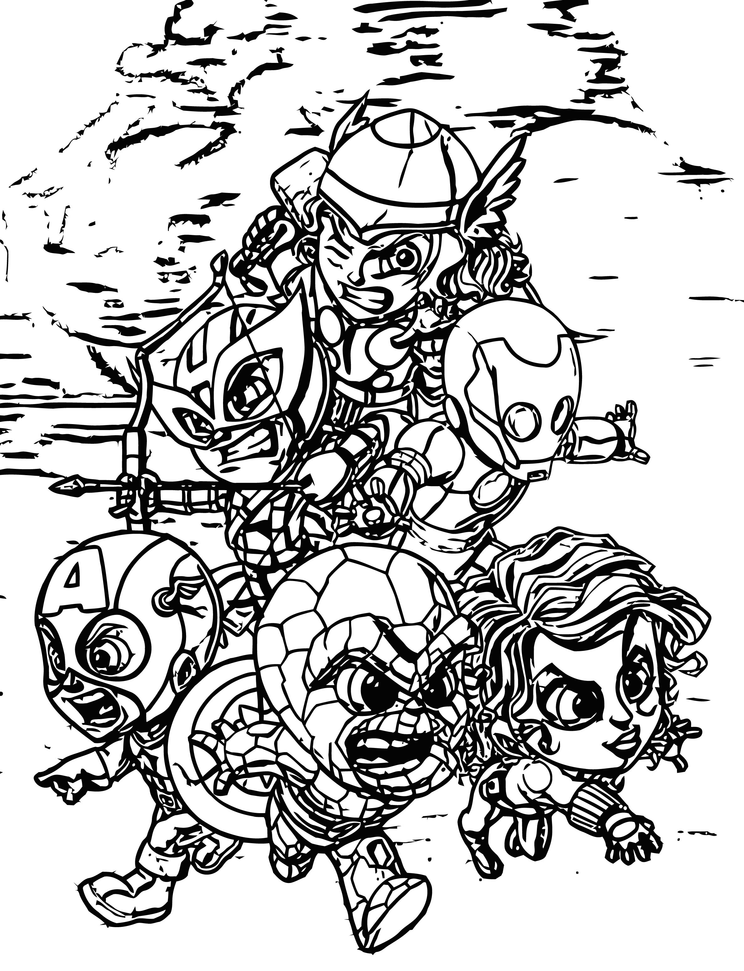 Avengers Coloring Page 245