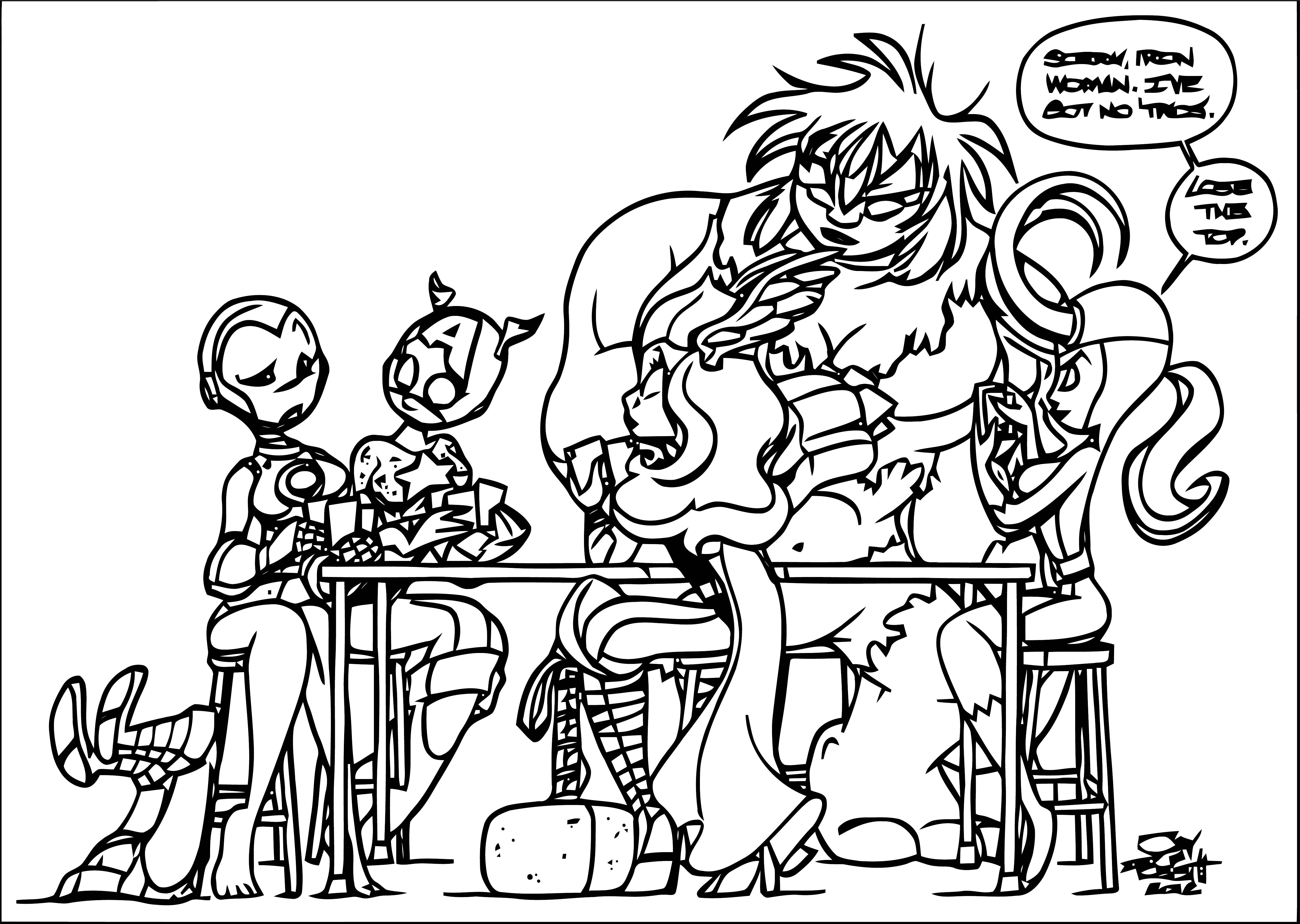 Avengers Coloring Page 256