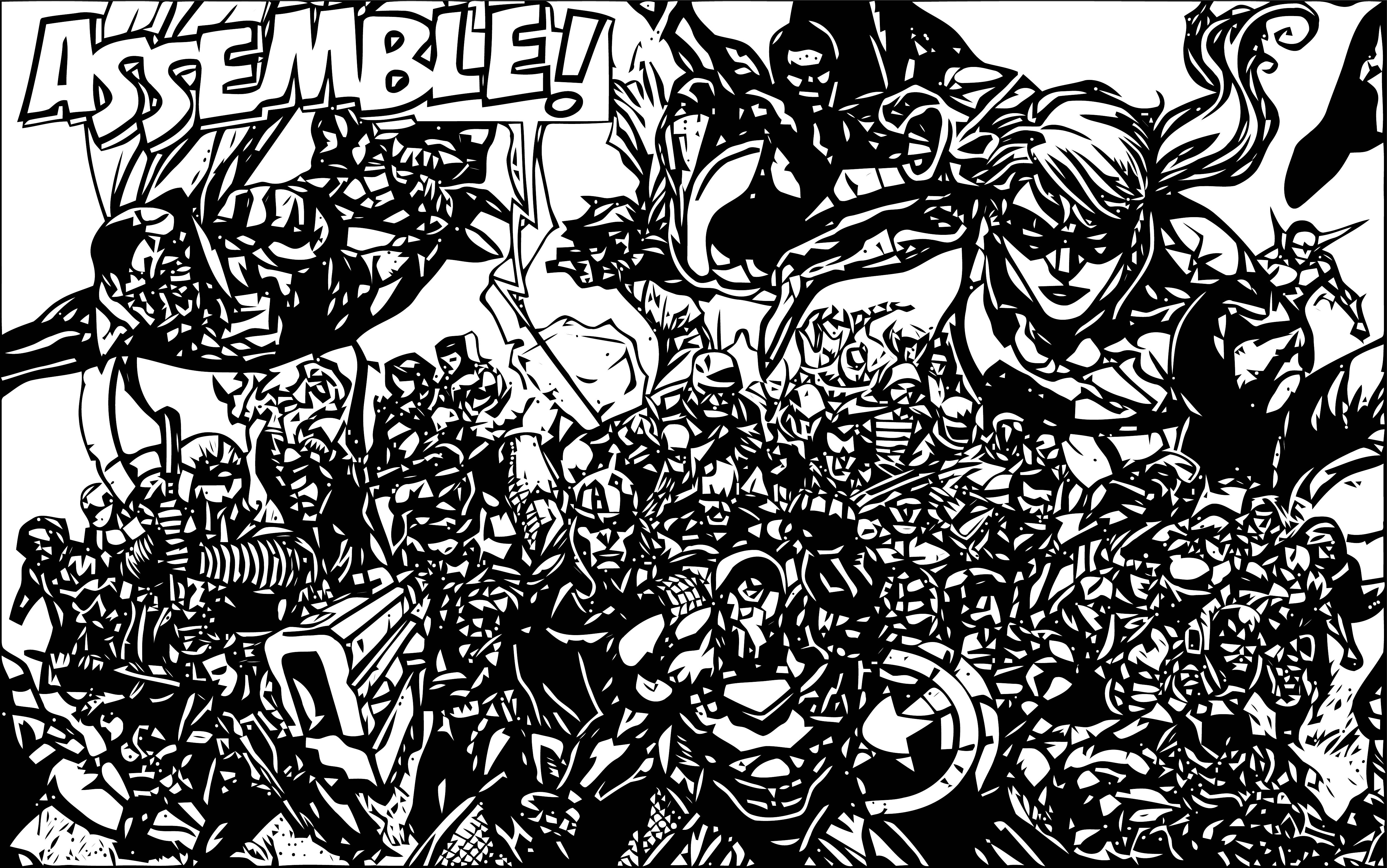 Avengers Coloring Page 259