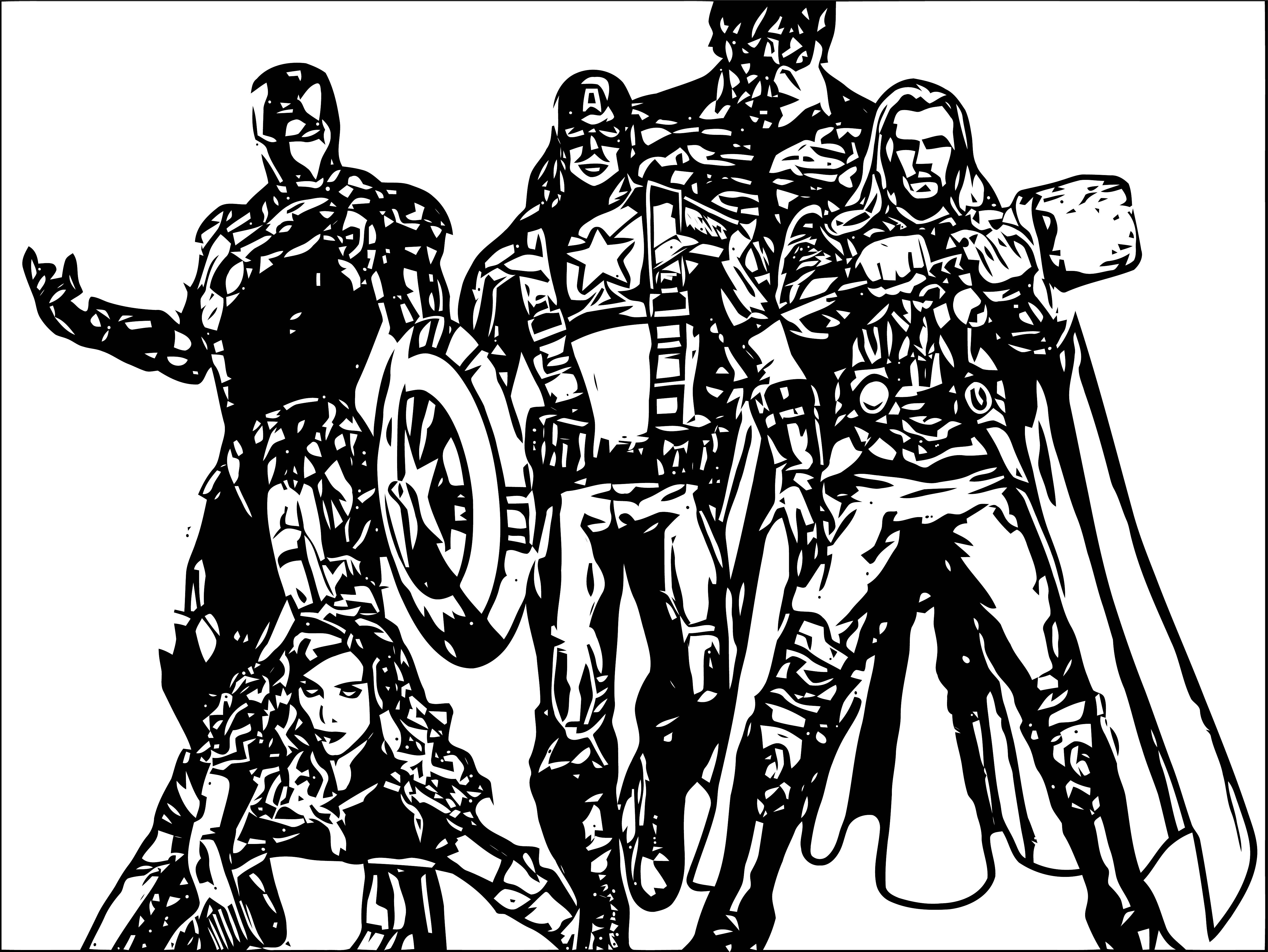 Avengers Coloring Page 289