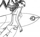 Barbie Beach Surf Time Coloring Page