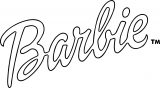Barbie Dolls Text Coloring Page