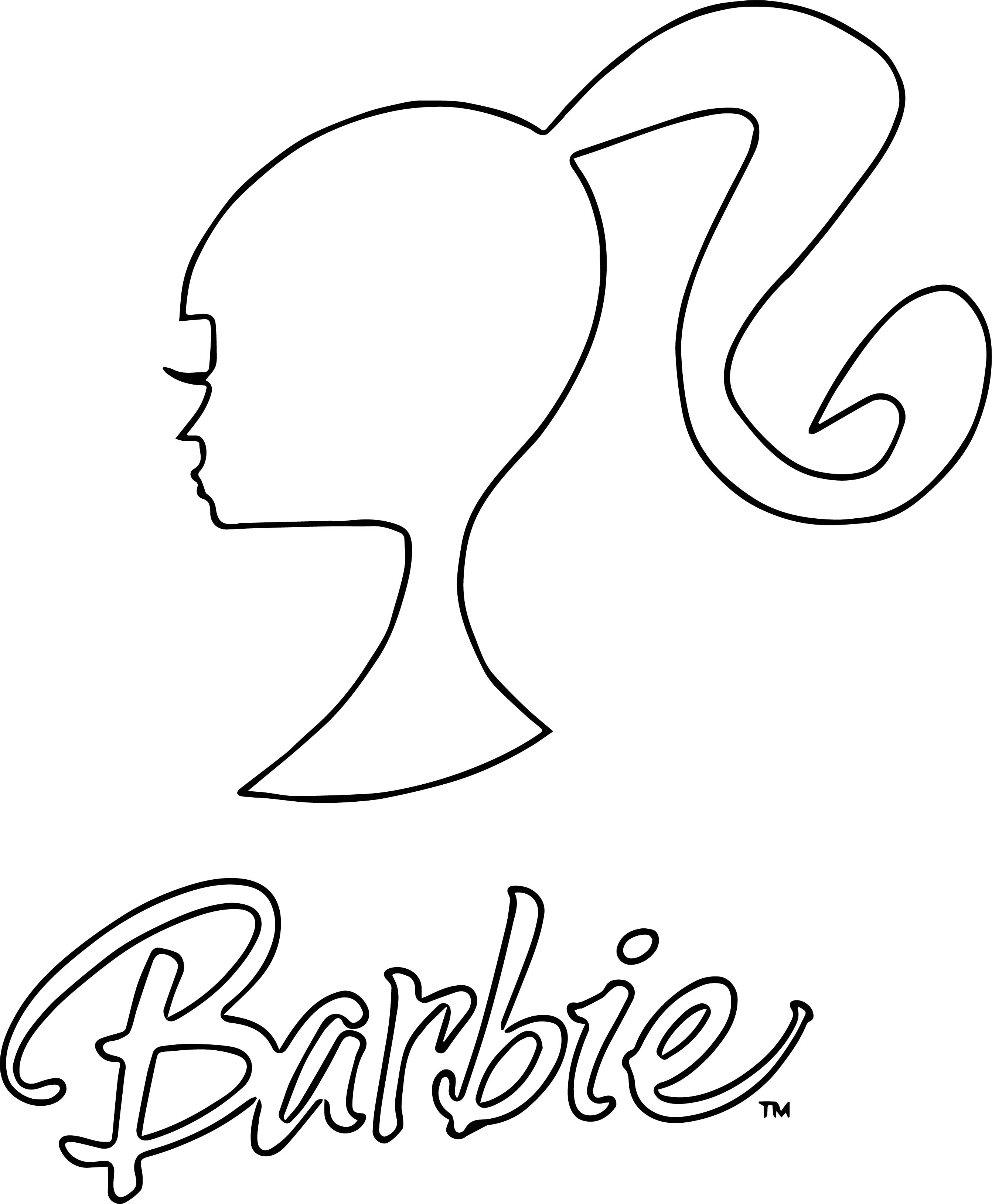 Barbie Logo And Text Coloring Page