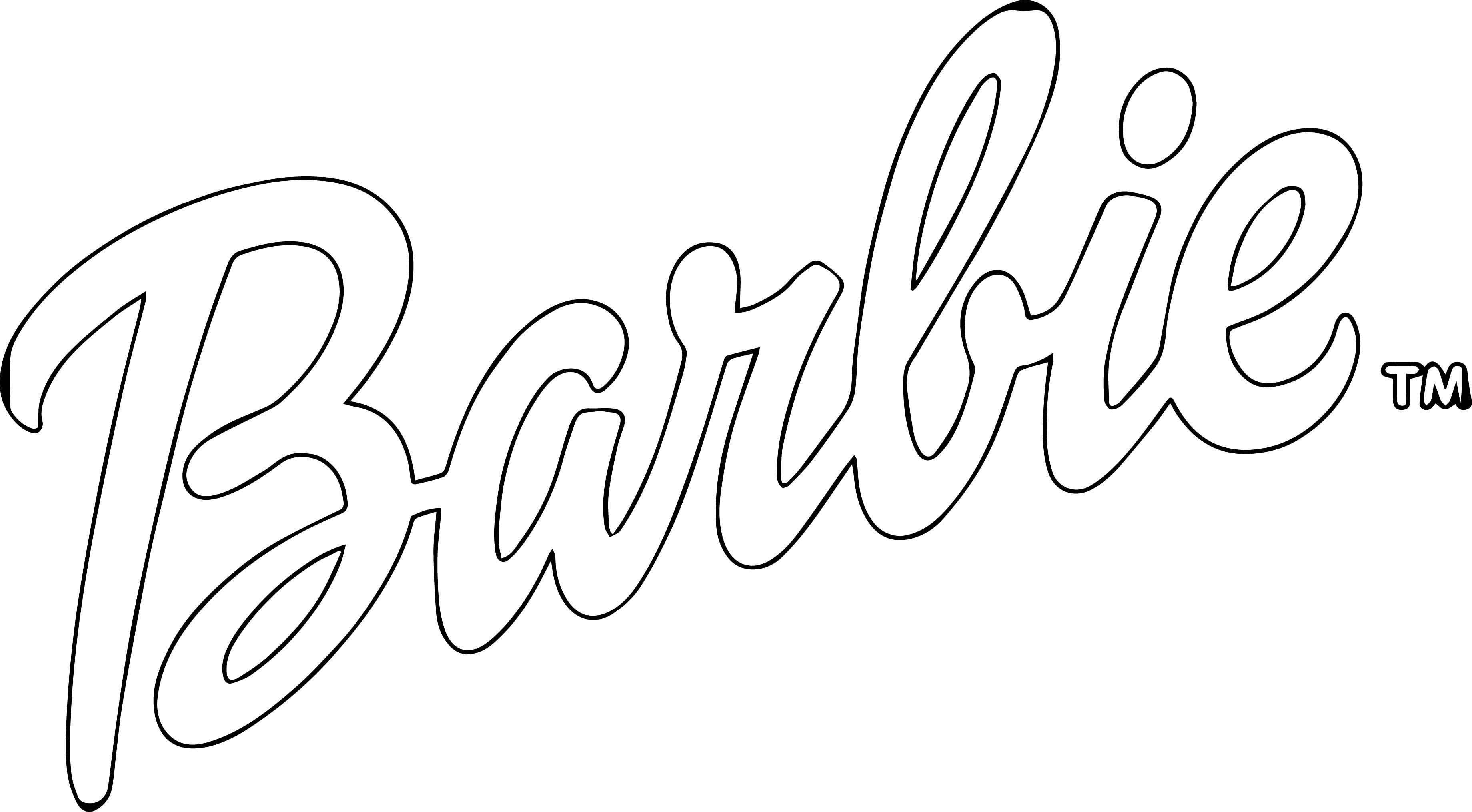 Barbie Logo Coloring
