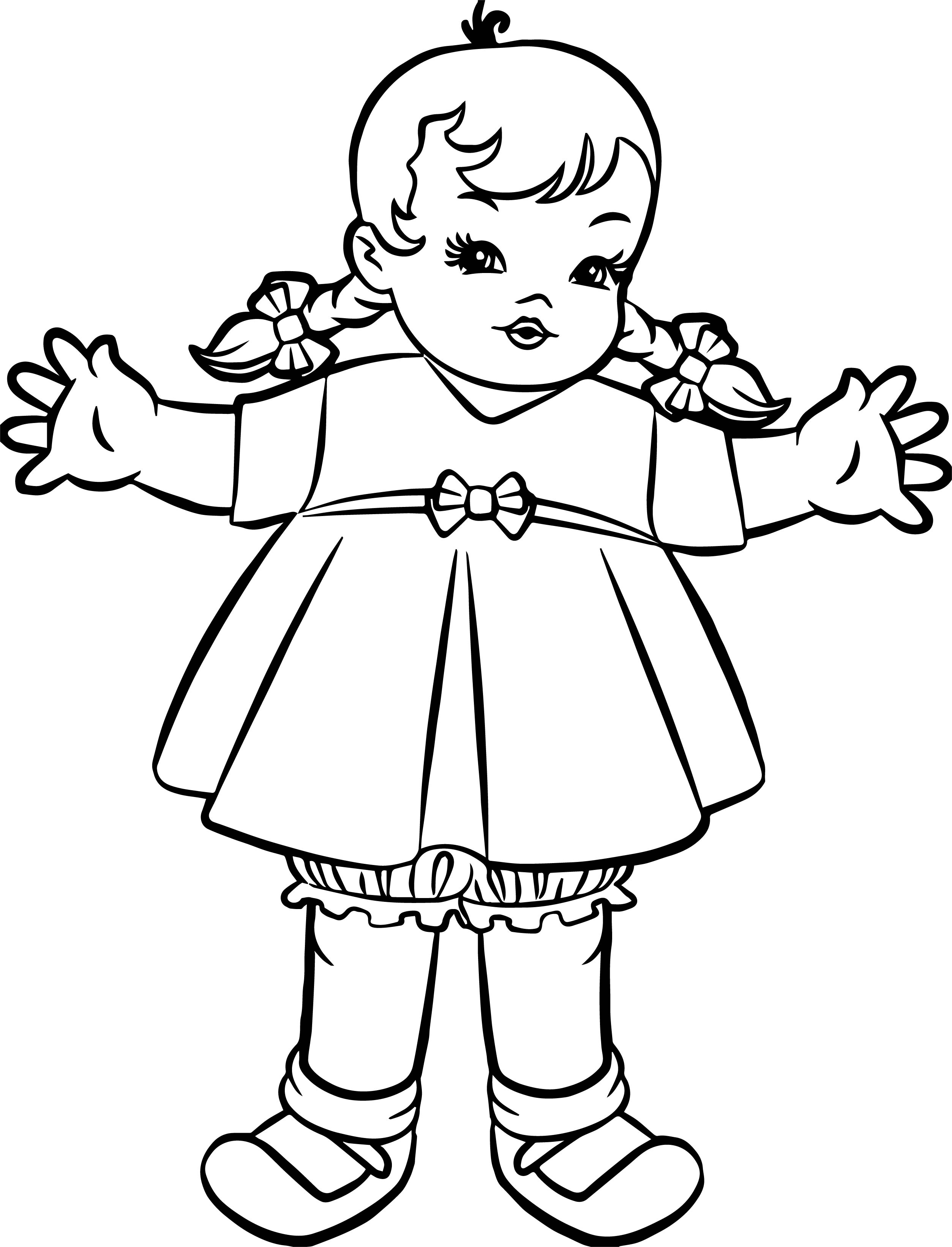 Barbie Small Kid Girl Coloring Page
