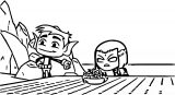 Beast Boy Pulled Down Raven's Hood Coloring Page