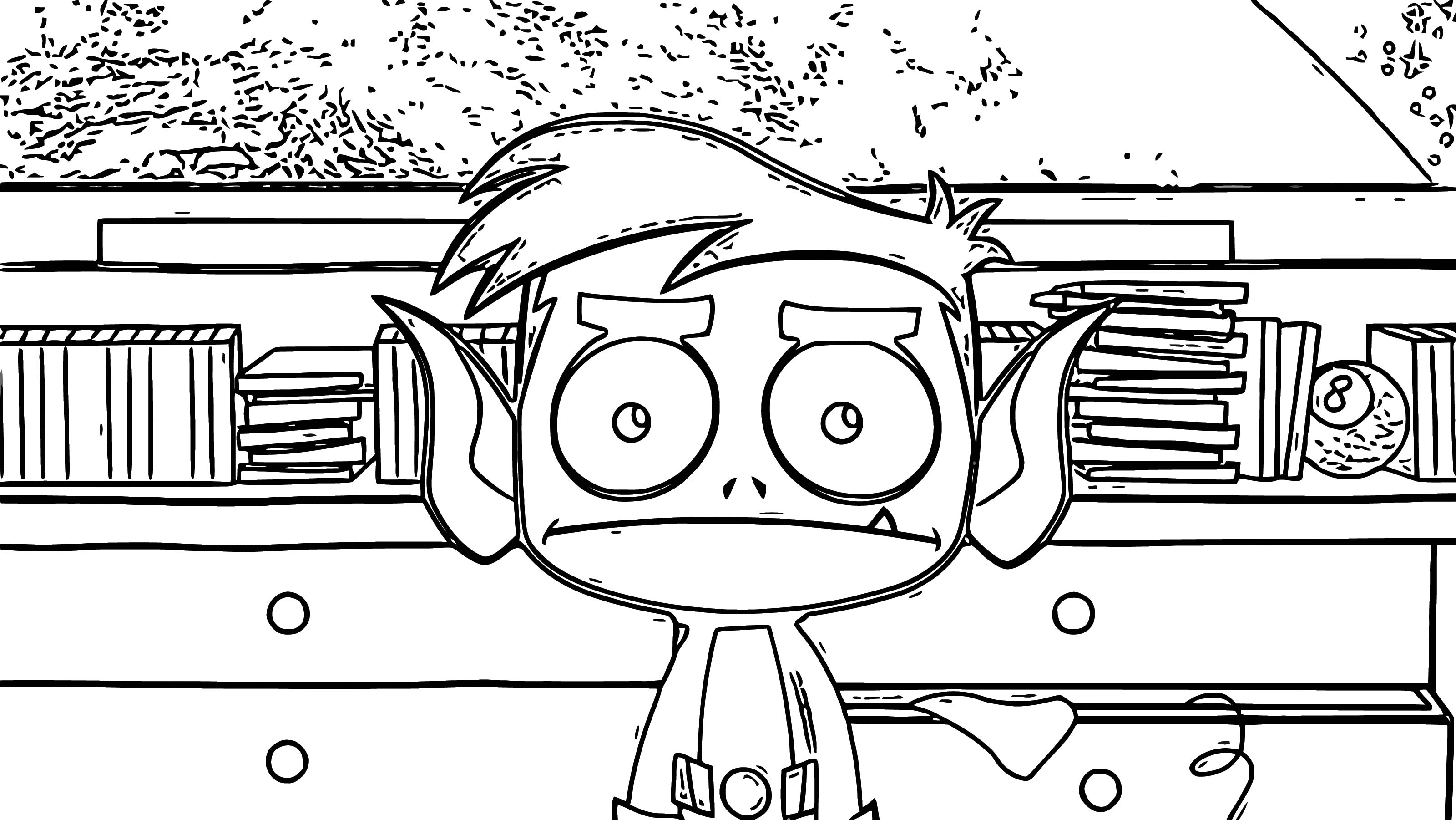 Beast Boy Teen Titans Go What Coloring Page