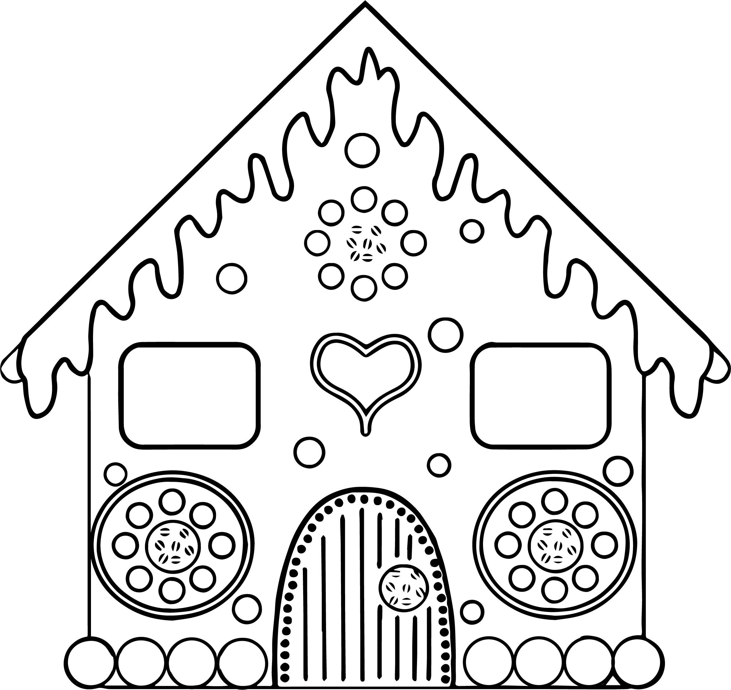 Beautiful Home Gingerbread Coloring Page