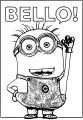 Bello Minion Minions Coloring Page