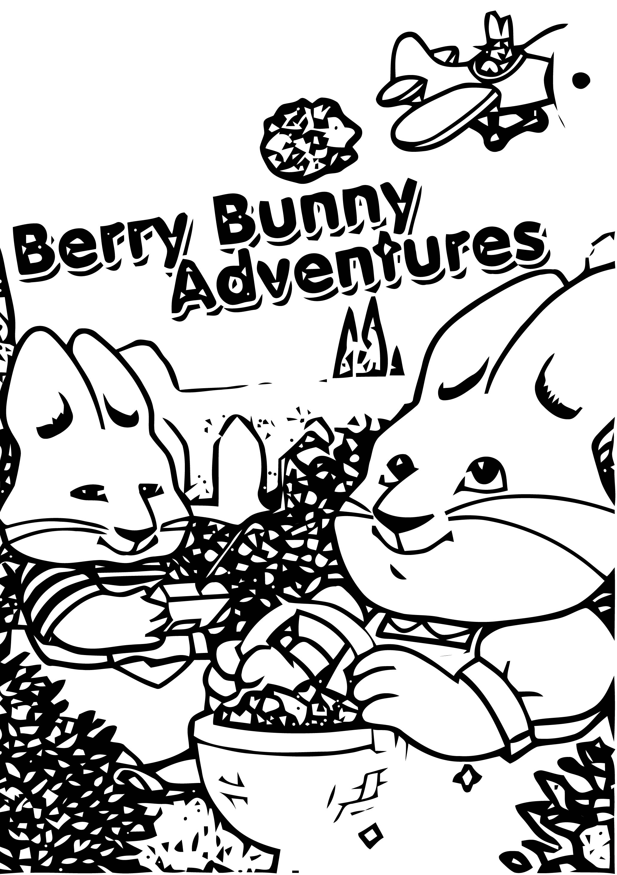 Berry Bunny Adventures Max And Ruby Coloring Page