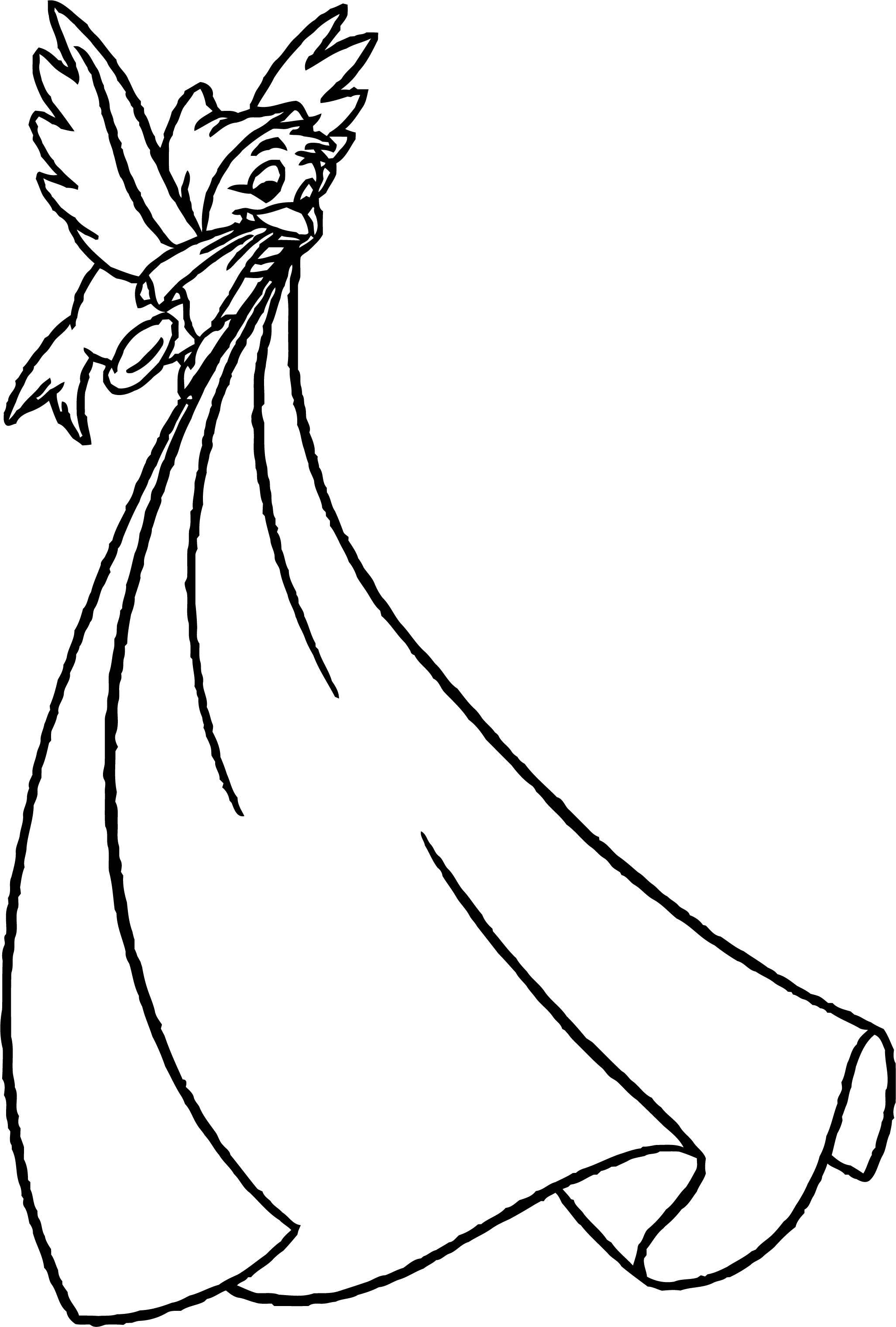Bird Carrying Cloth Coloring Pages