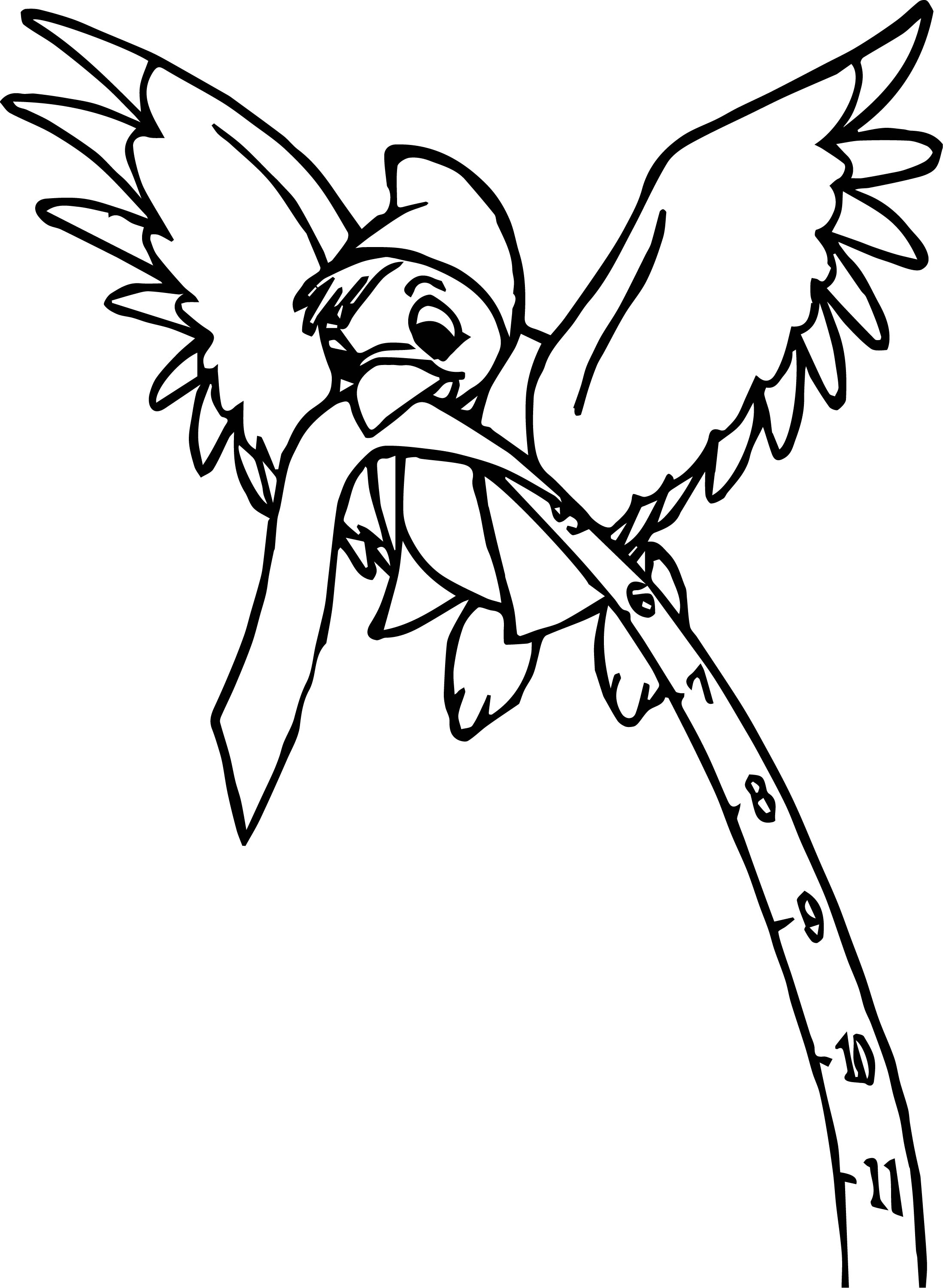 Bird Carrying Meter Coloring Pages