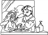 Brush Teeth Lilo Coloring Page