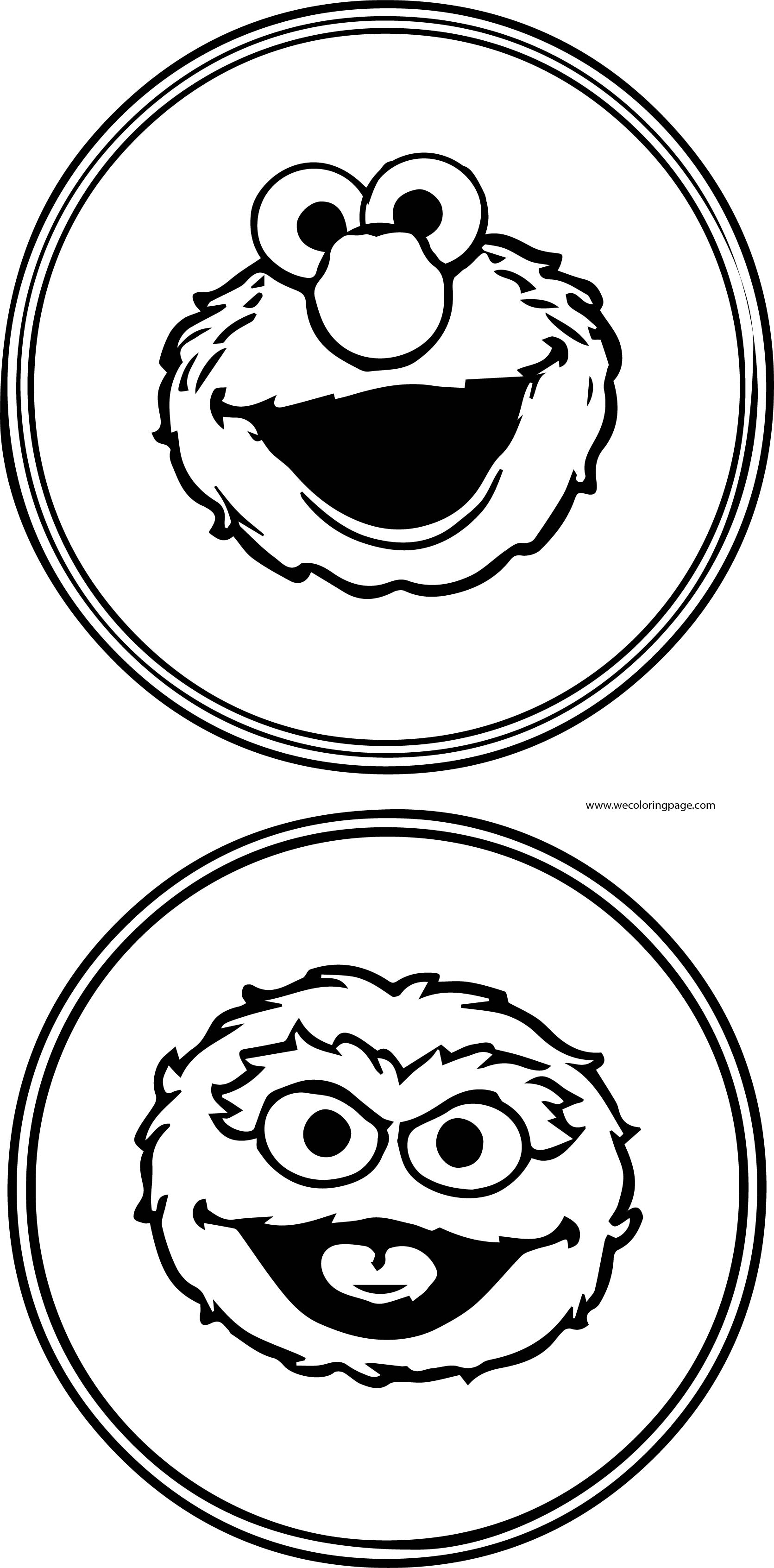 Cartoon Characters Pictures For Coloring Sesame Street Coloring Page