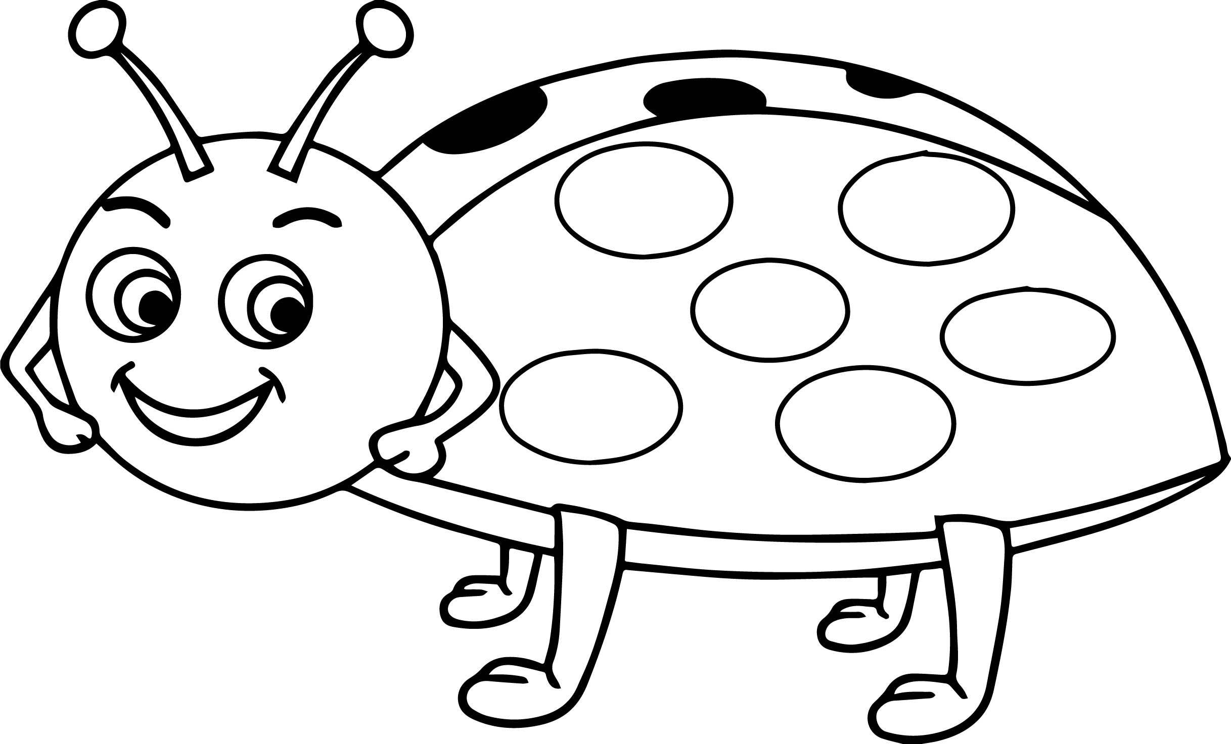 cartoon ladybug coloring pages | Cartoon Cute Ladybug Coloring Page | Wecoloringpage.com