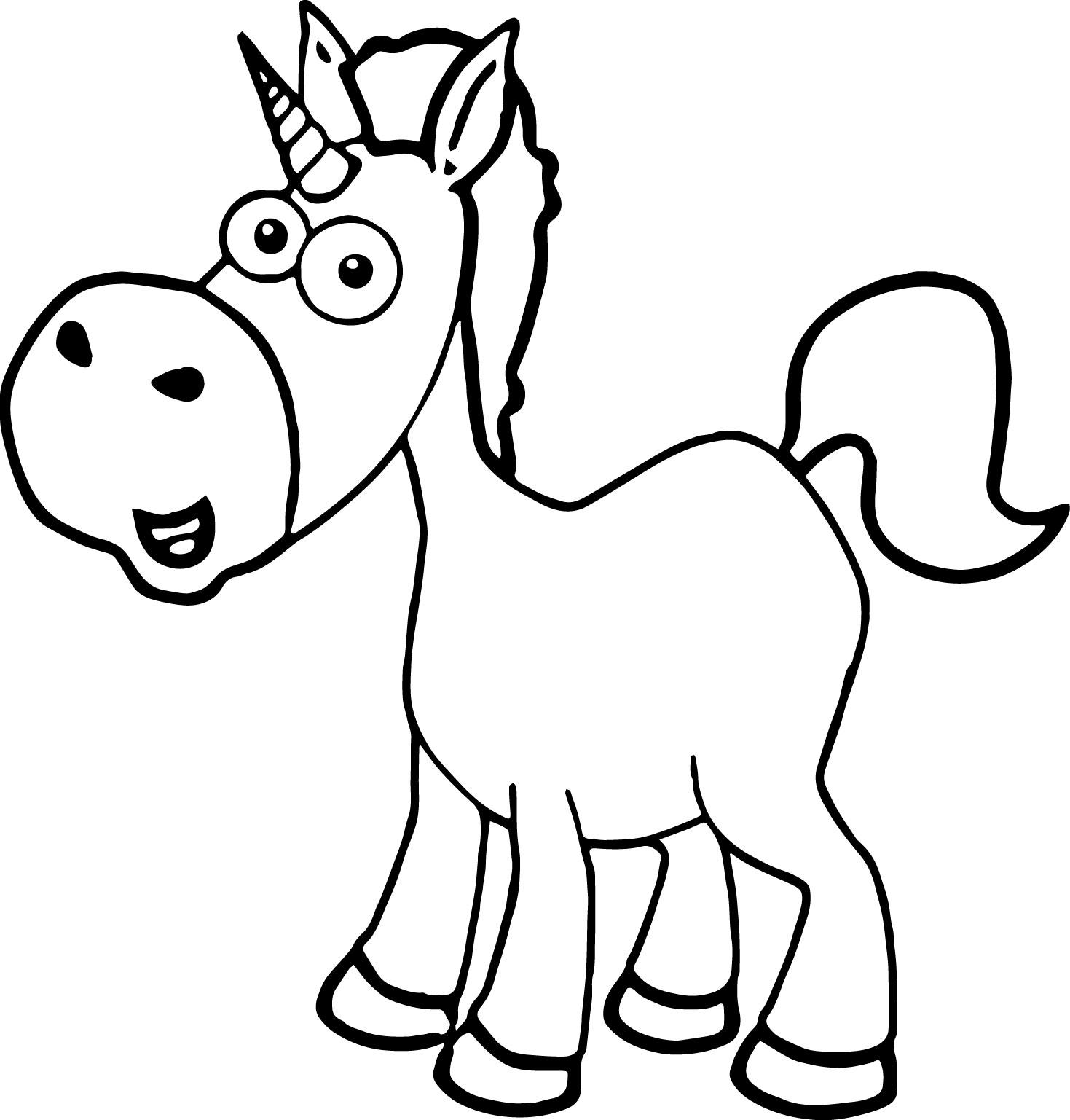 Cartoon Horse Coloring Page 11