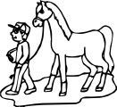 Cartoon Horse Coloring Page 16