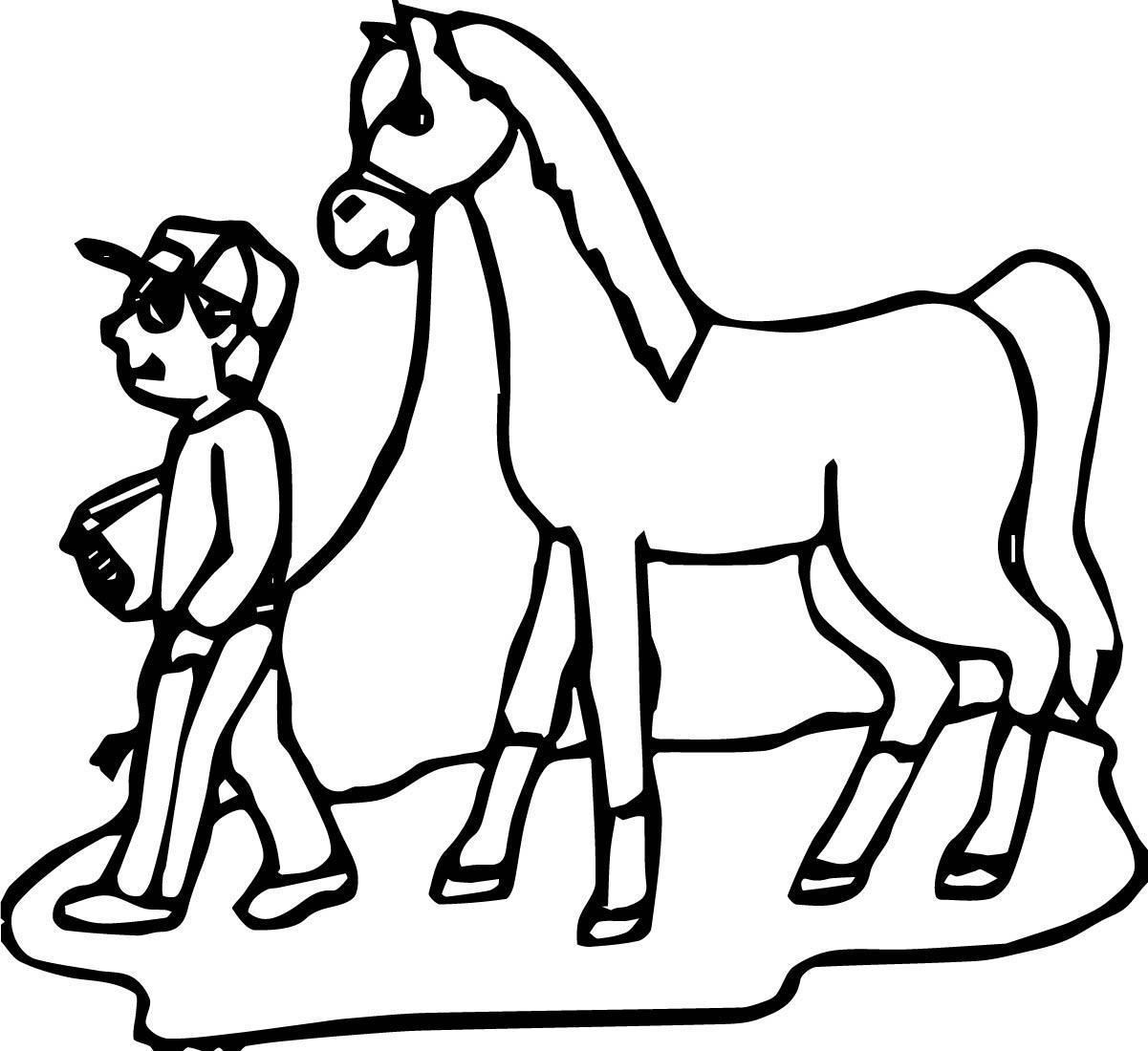 Cartoon Horse Coloring Page 16