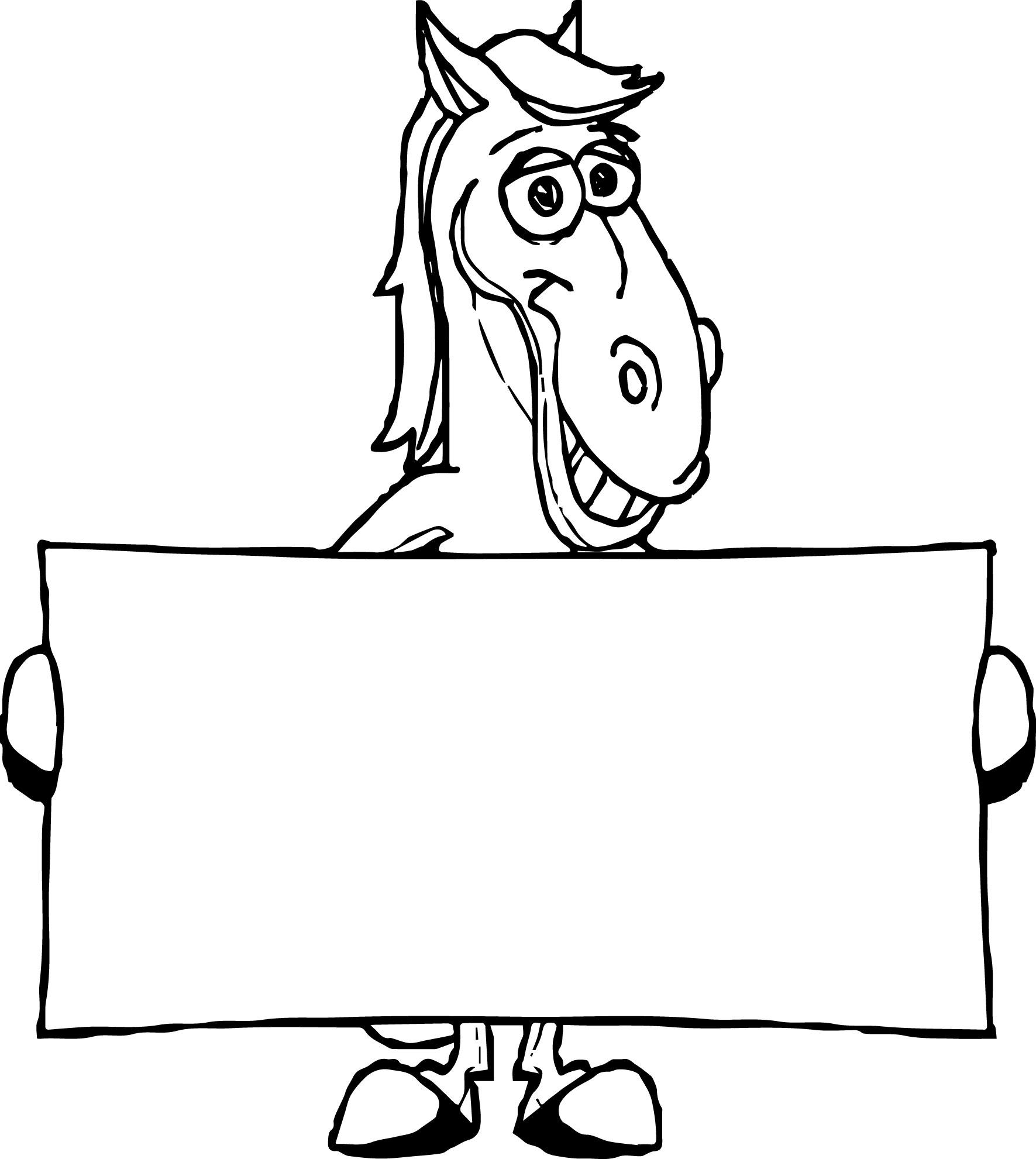 Cartoon Horse Coloring Page 26