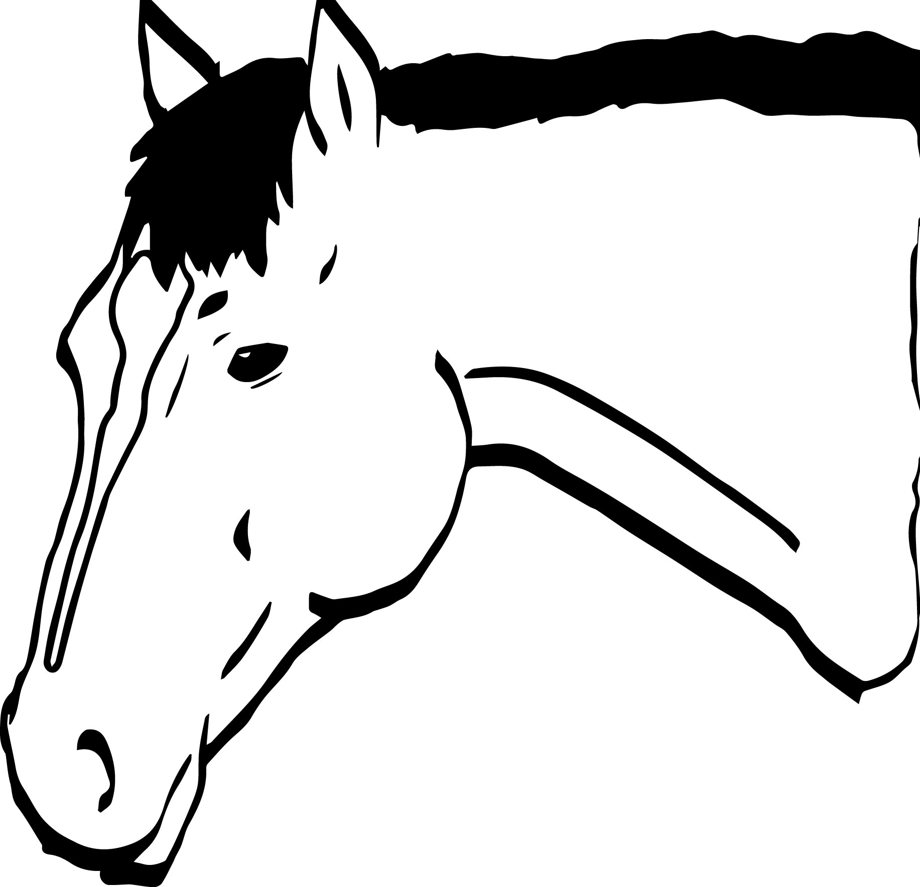 Cartoon Horse Coloring Page 28