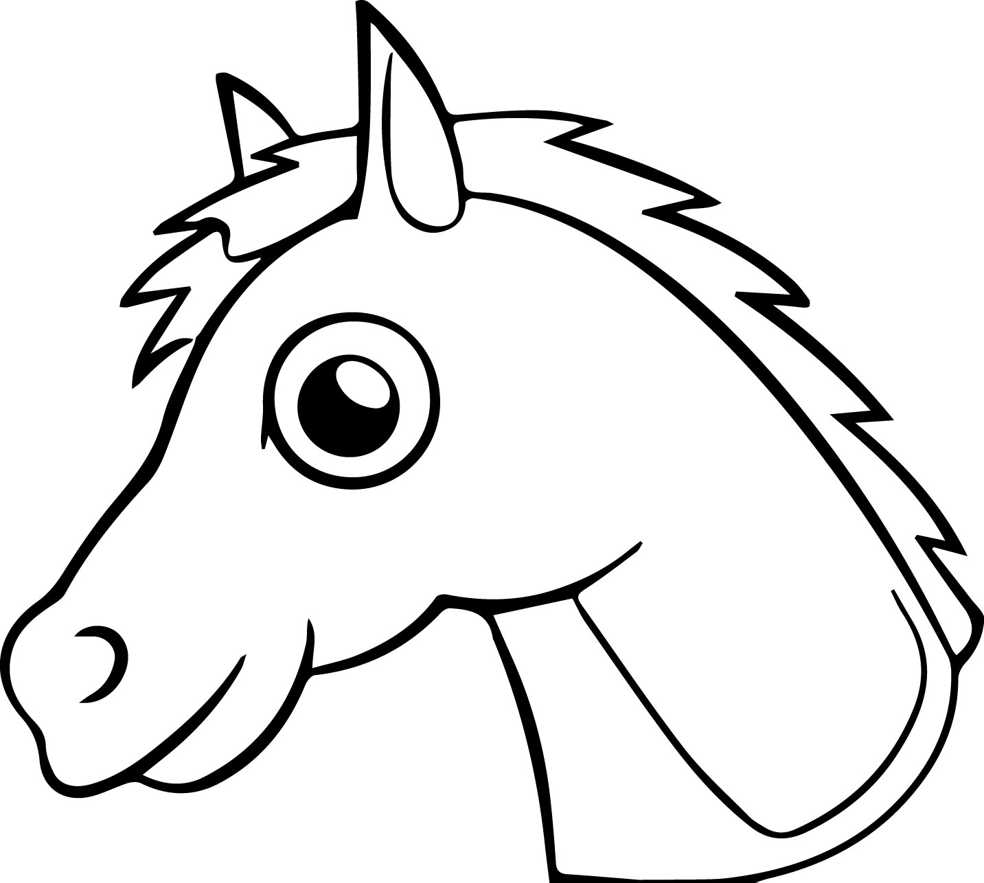 Cartoon Horse Coloring Page 30