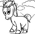 Cartoon Horse Coloring Page 31