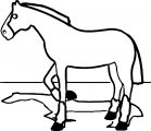 Cartoon Horse Coloring Page 36