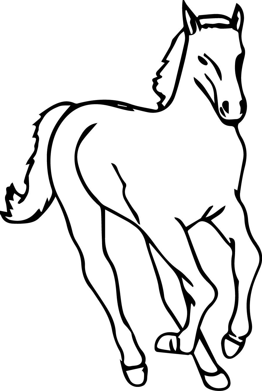Cartoon Horse Coloring Page 4