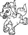 Cartoon Horse Coloring Page 41