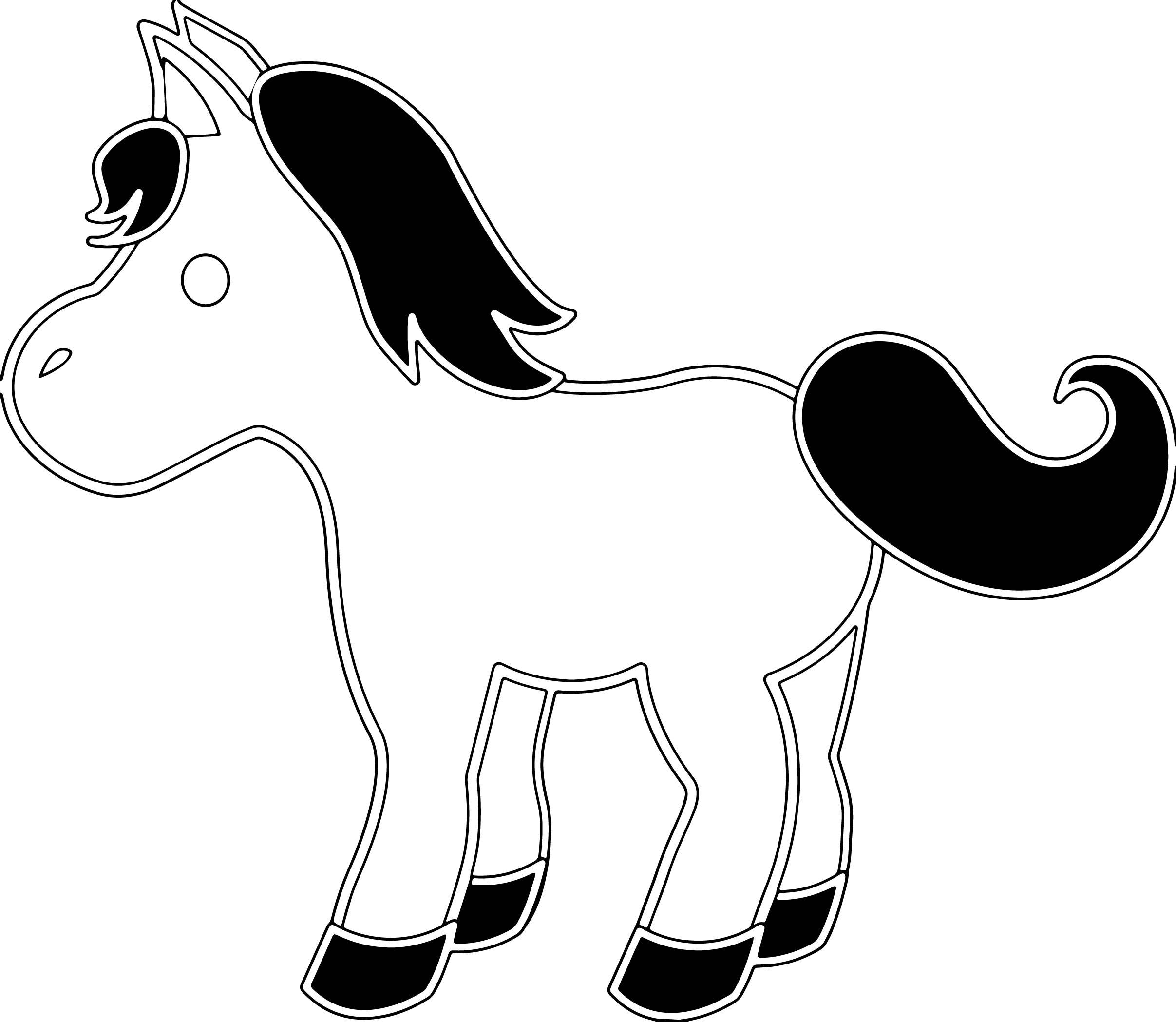 Cartoon Horse Coloring Page 50