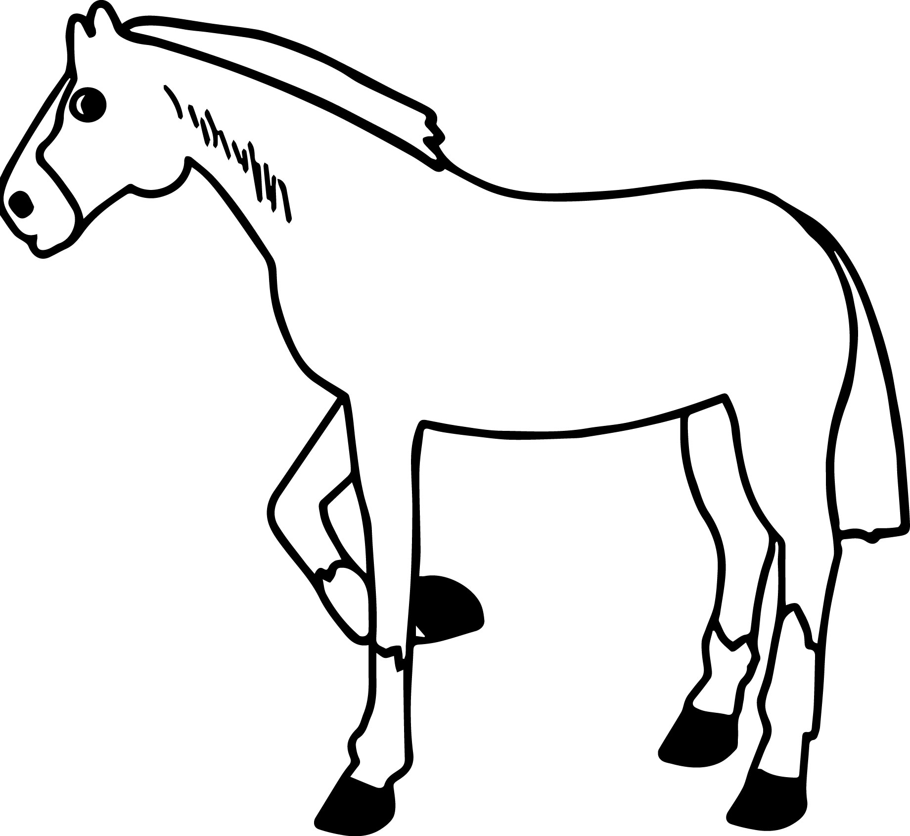 Cartoon Horse Coloring Page 56