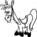 Cartoon Horse Coloring Page 9