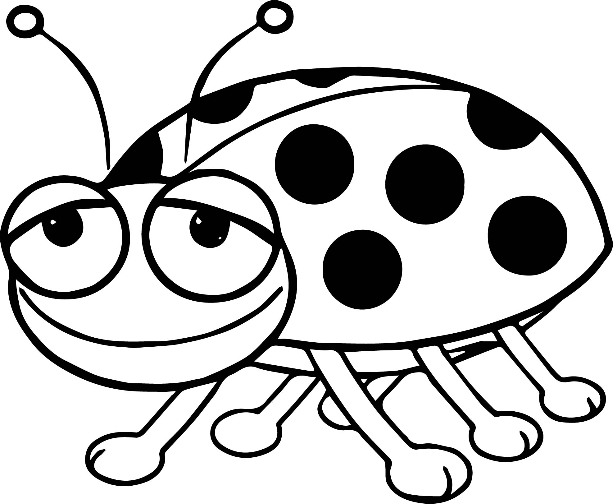 cartoon ladybug coloring pages | Cartoon Ladybug Cartoon Coloring Page | Wecoloringpage.com