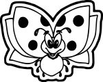 Cartoon Ladybug Fly Coloring Page