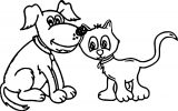 Cat Puppy Dog Coloring Page