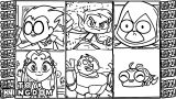 Character Teen Titans Go Robin Coloring Page