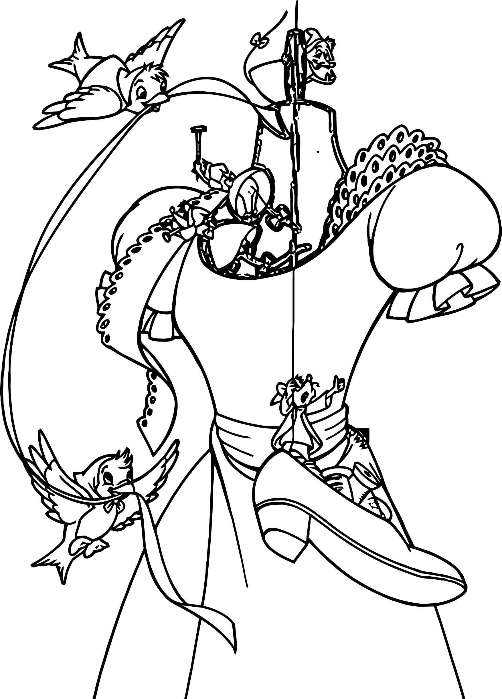 Cinderella Dress Coloring Pages Wecoloringpage